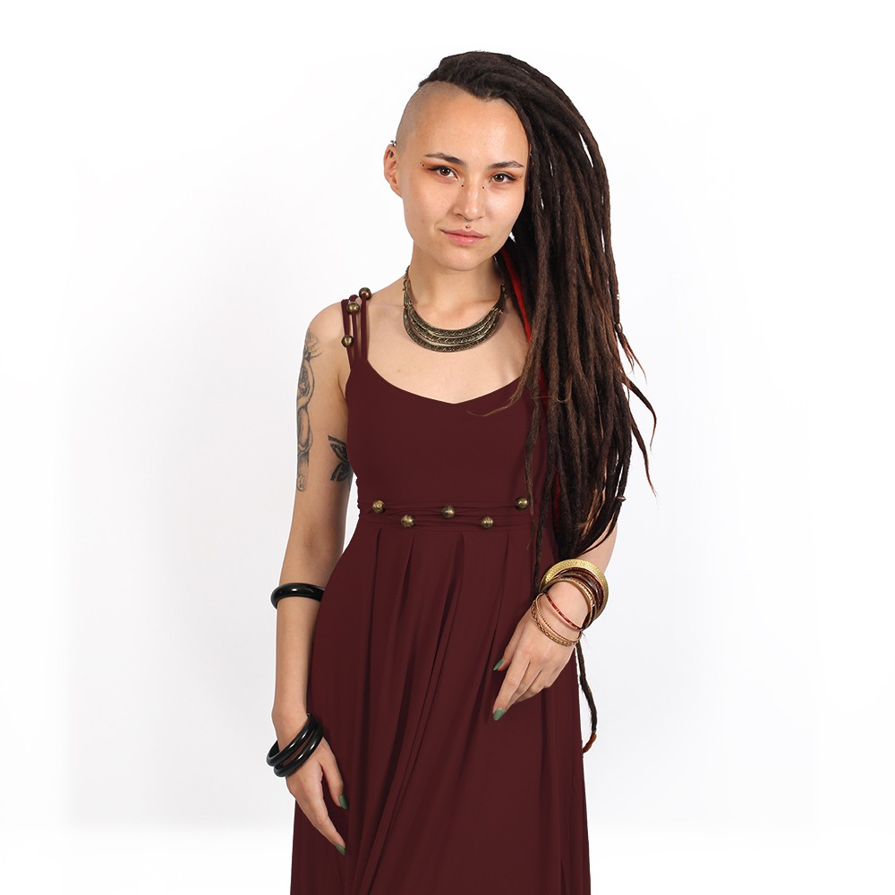 "\""Massaläa\"" long dress, Wine"
