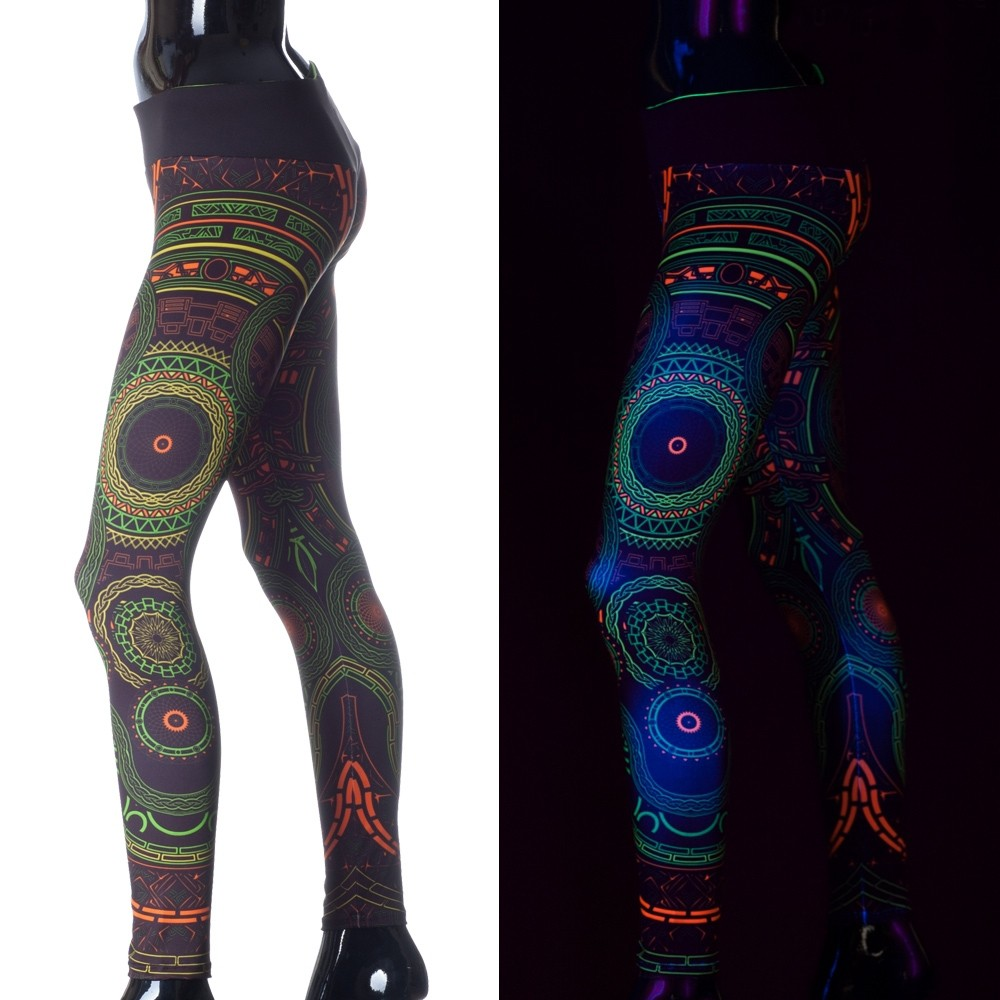 """Mastermind\"" UV leggings, Black"