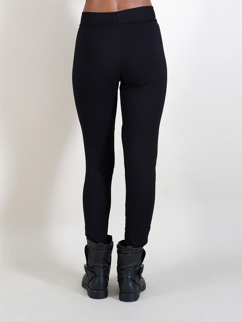 "\""Mata Kaki\"" long leggings, Black"