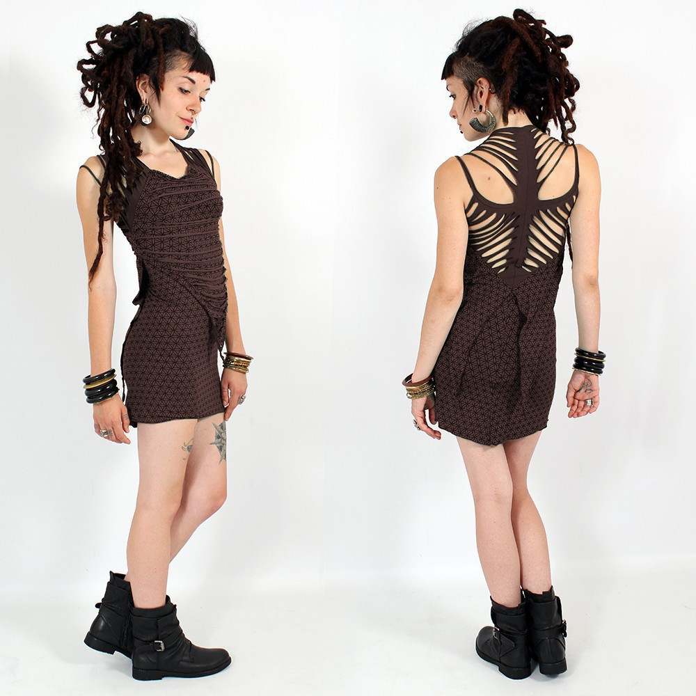"\""Maya\\\"" dress, Dark brown"