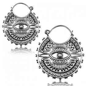 "\""Mayan eye Pali\"" earrings"