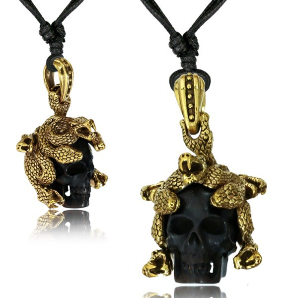 """Medusa Skull\"" necklace"