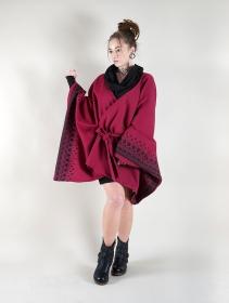 "\""Melian\"" kimono jacket, Wine"