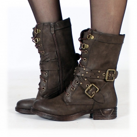 """Menaka\"" boots, Dark brown"