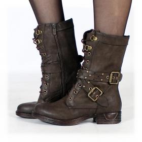 "\""Menaka\"" boots, Dark brown"