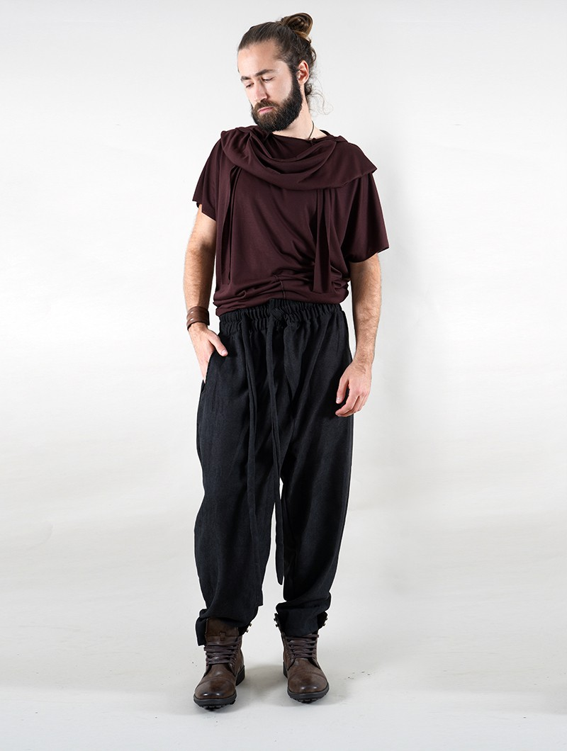 "\""Merwan\"" Harem joggers, Black"