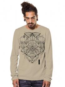 "\""Meteora\"" thin sweatshirt, Beige"