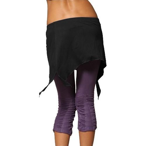 "Mini skirt \\\""double pointed\\\"", black"