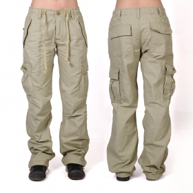 Molecule baggy pants for women, Beige