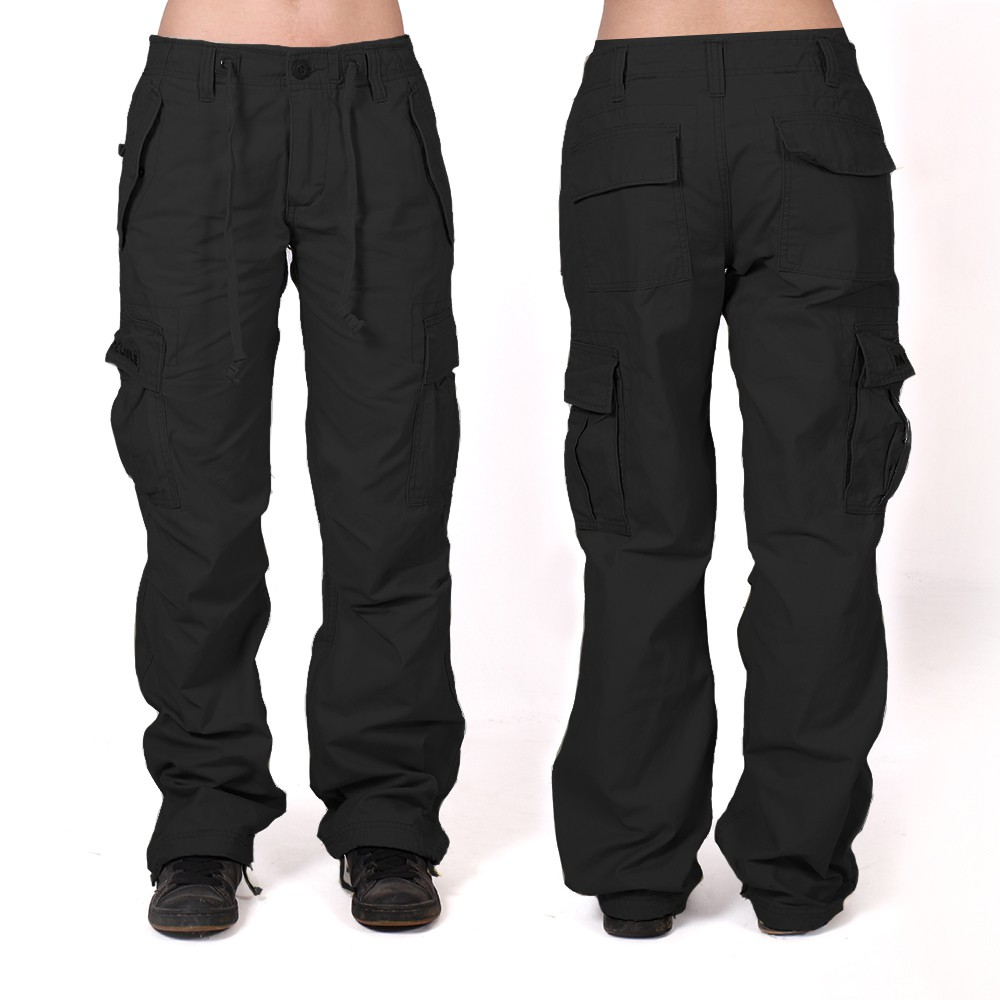 Molecule baggy pants for women, Black