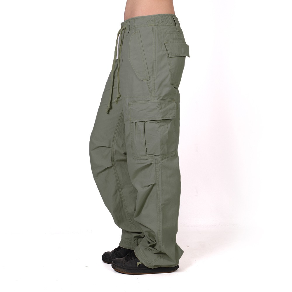 Molecule baggy pants for women, Khaki green