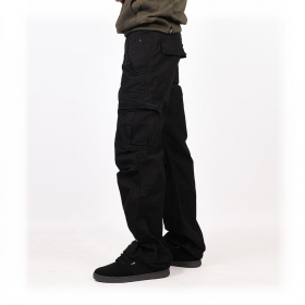 Molecule gender free baggy pants, Black
