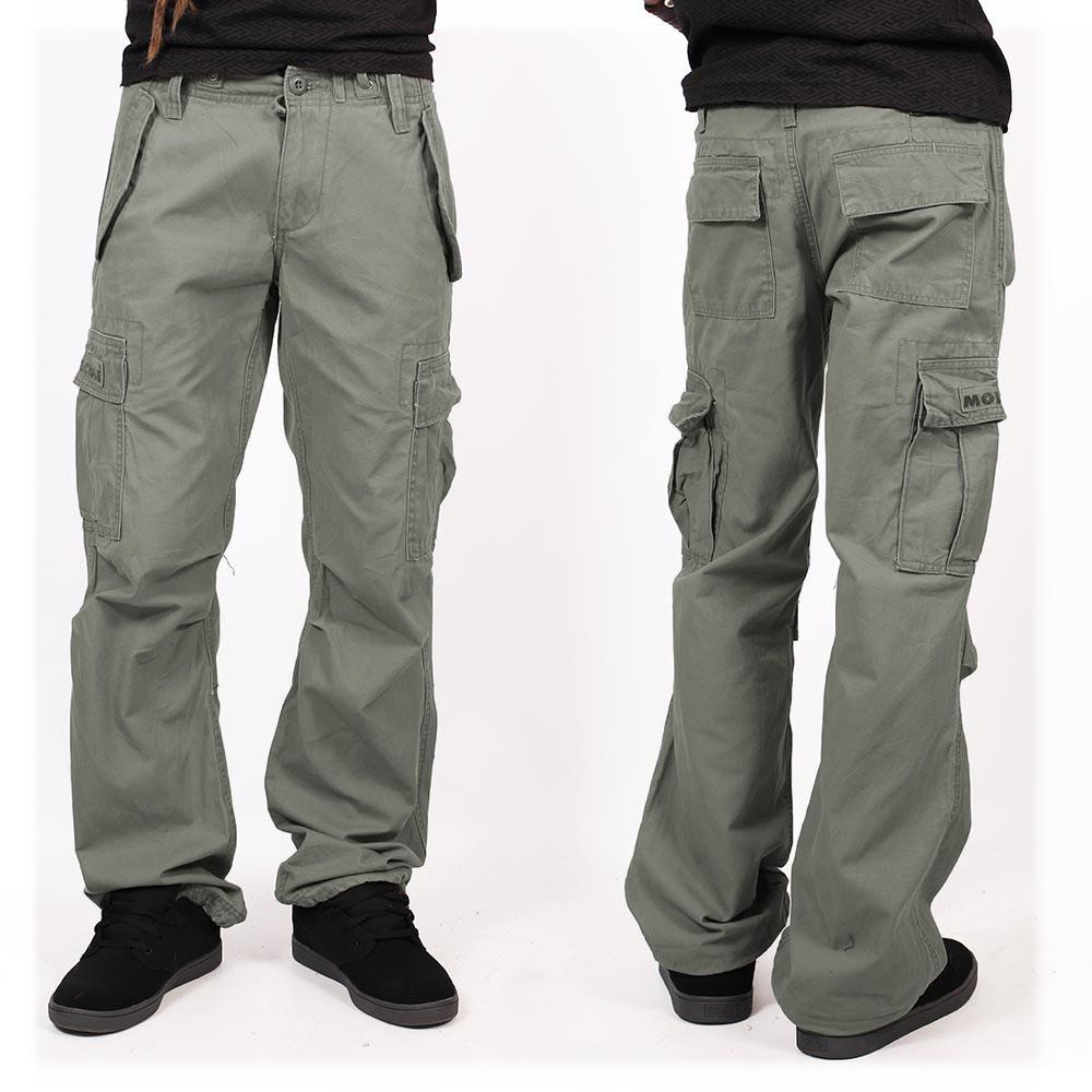 Molecule gender free baggy pants, Khaki green