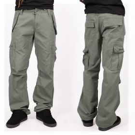 Molecule gender free baggy pants, Khaki green