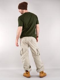 Molecule gender neutral baggy cargo pants, Beige