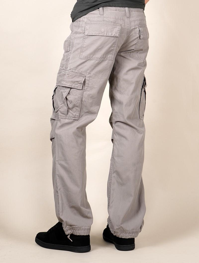Molecule gender neutral baggy cargo pants, Grey