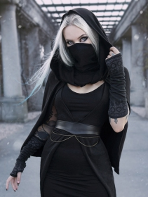 "\""Moöna\"" belt, Black faux leather"