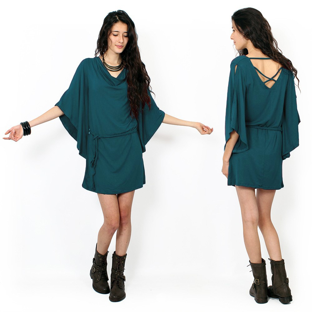 """Moonaï\"" dress, Dark teal"