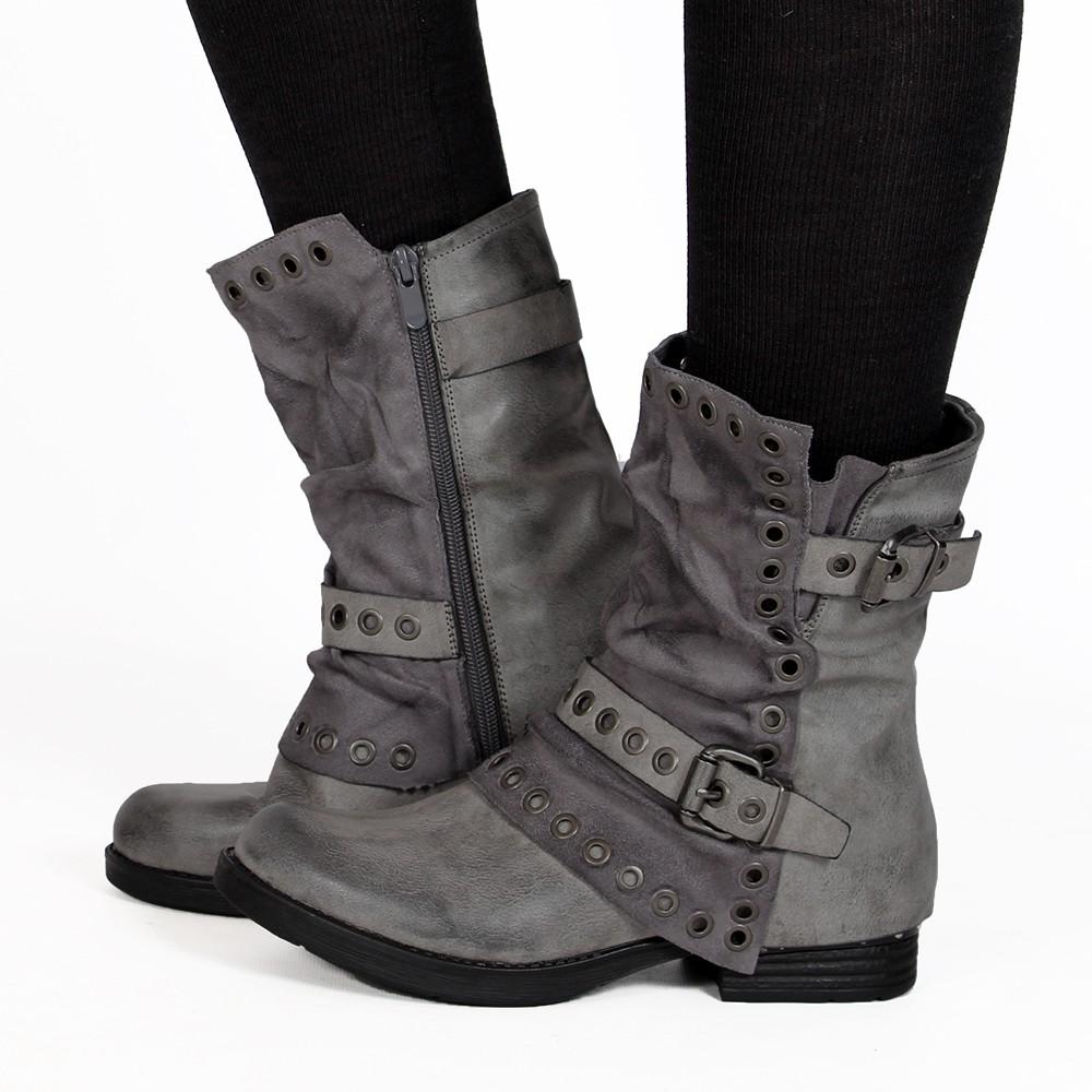 "\""Morwën\"" boots, Grey"