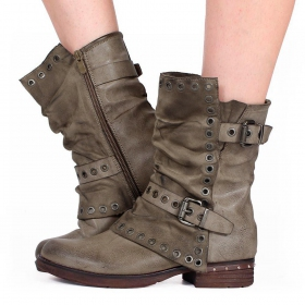 """Morwën\"" boots, Taupe"