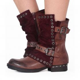 "\""Morwën\"" boots, Wine"