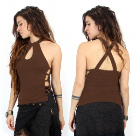 """Muanchan\"" top, Brown"