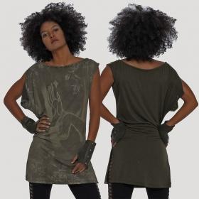 "\""Mudra\"" tank top, Khaki green"