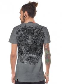 "\""Mushi Master\"" t-shirt, Grey wash"