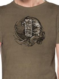 "\""Mushi Master\"" t-shirt, Wash bone"