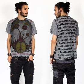 "\""Mushroom\"" t-shirt, Dark grey"