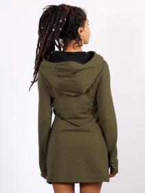 "\""Myäa\"" sweatshirt dress, Army green"