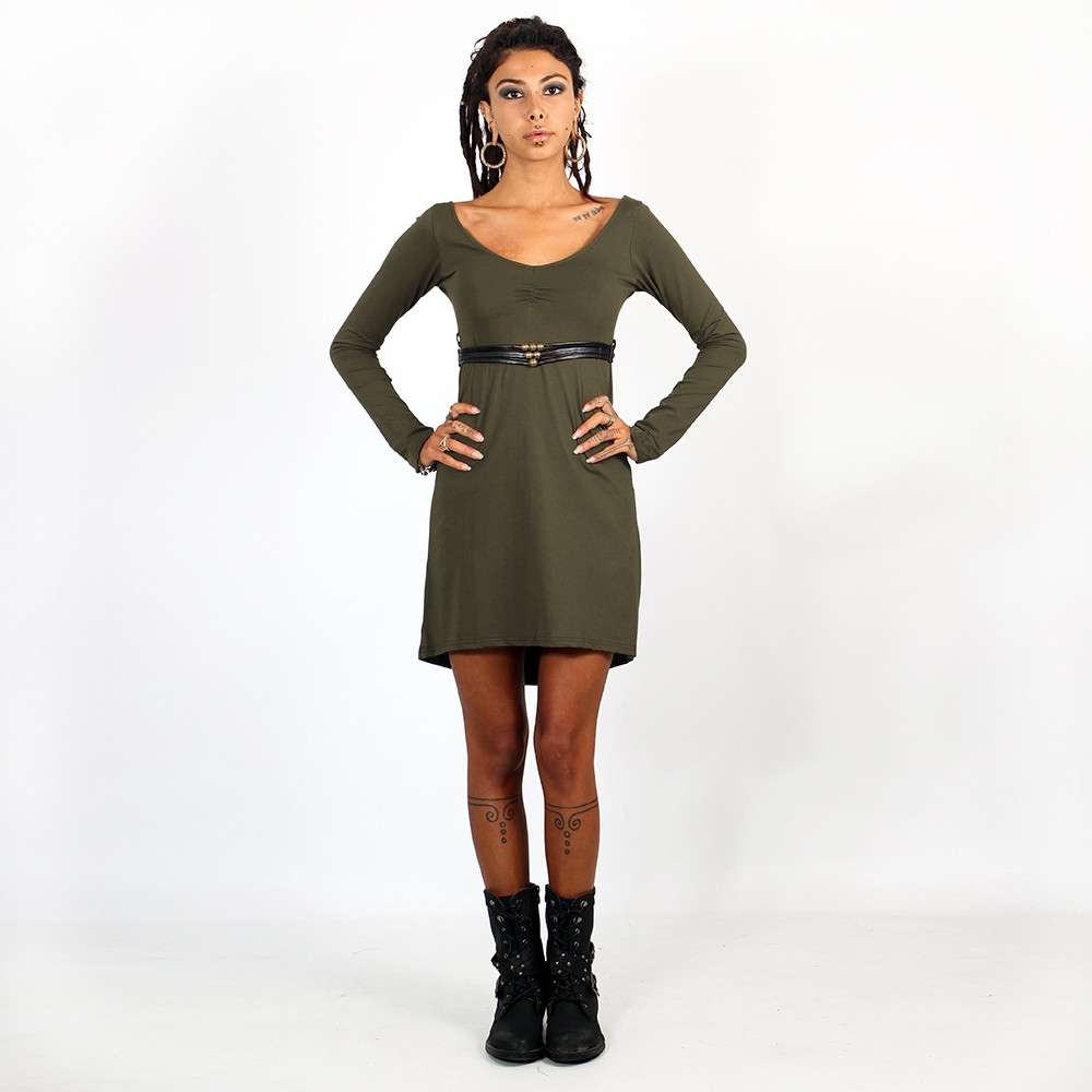 """Mystic\"" dress, Khaki and Black"