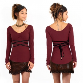"""Mystic\"" Top Pull, Wine and Black"