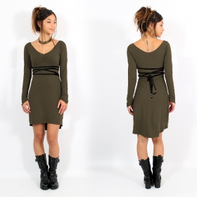 """Mystic\""dress, Khaki and Black"