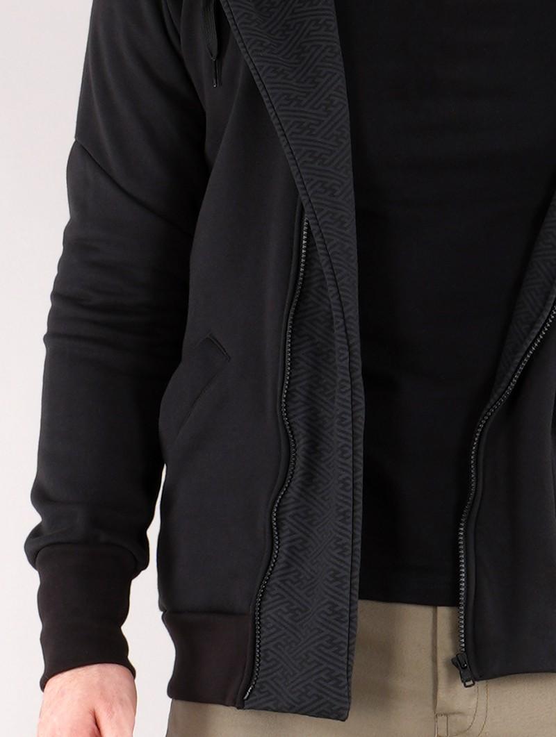 "\""Námo Swastika\"" zipped hoodie, Black"