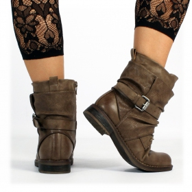"\""Nandini\"" boots, Mole"