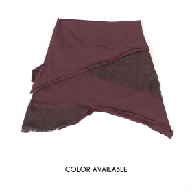 """Nangaï"" skirt, Plain brown"