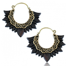 """Narra Lakadee\"" earrings"