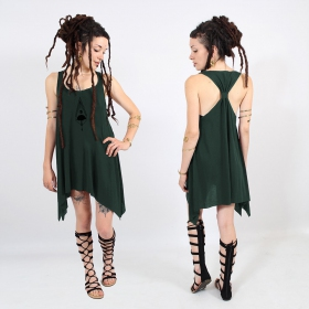 """Nature spirit\"" knotted tunic, Teal and black"