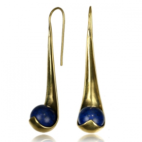 """Neela Lapis\"" ear jewel"