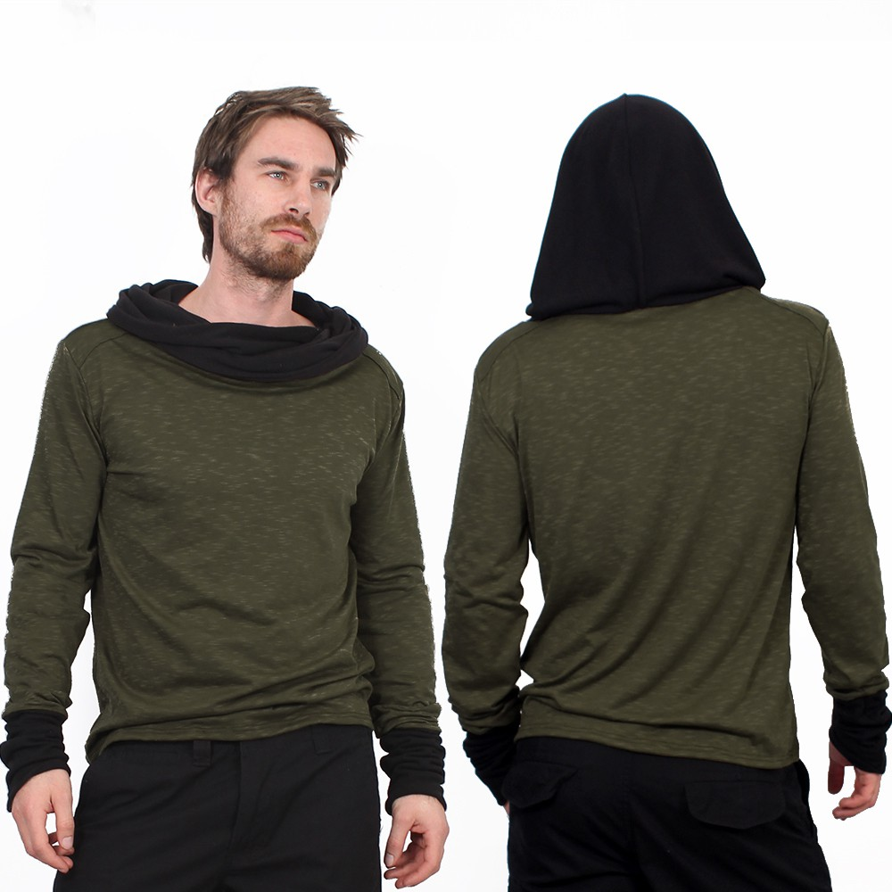 """Nemöo\"" long sleeved shirt, Khaki green"