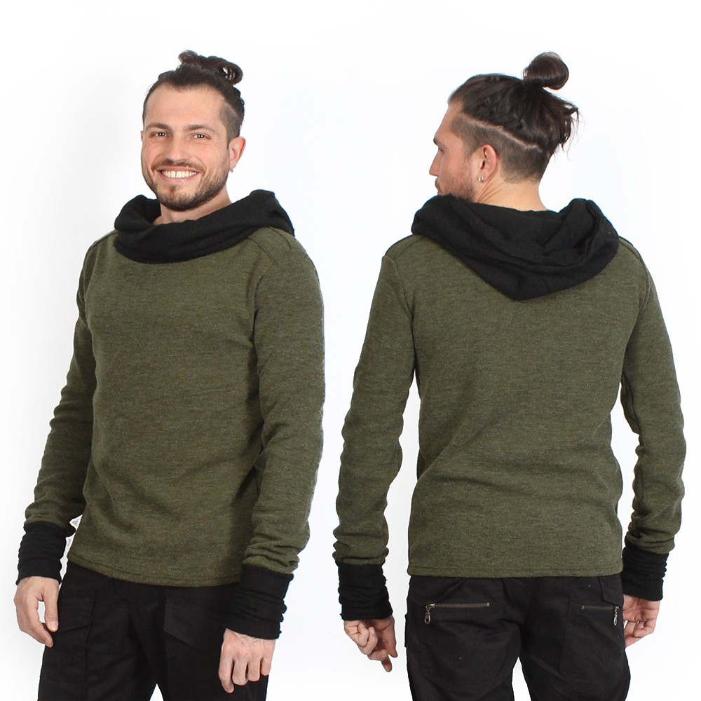 """Nemöo\"" sweater, Khaki green"