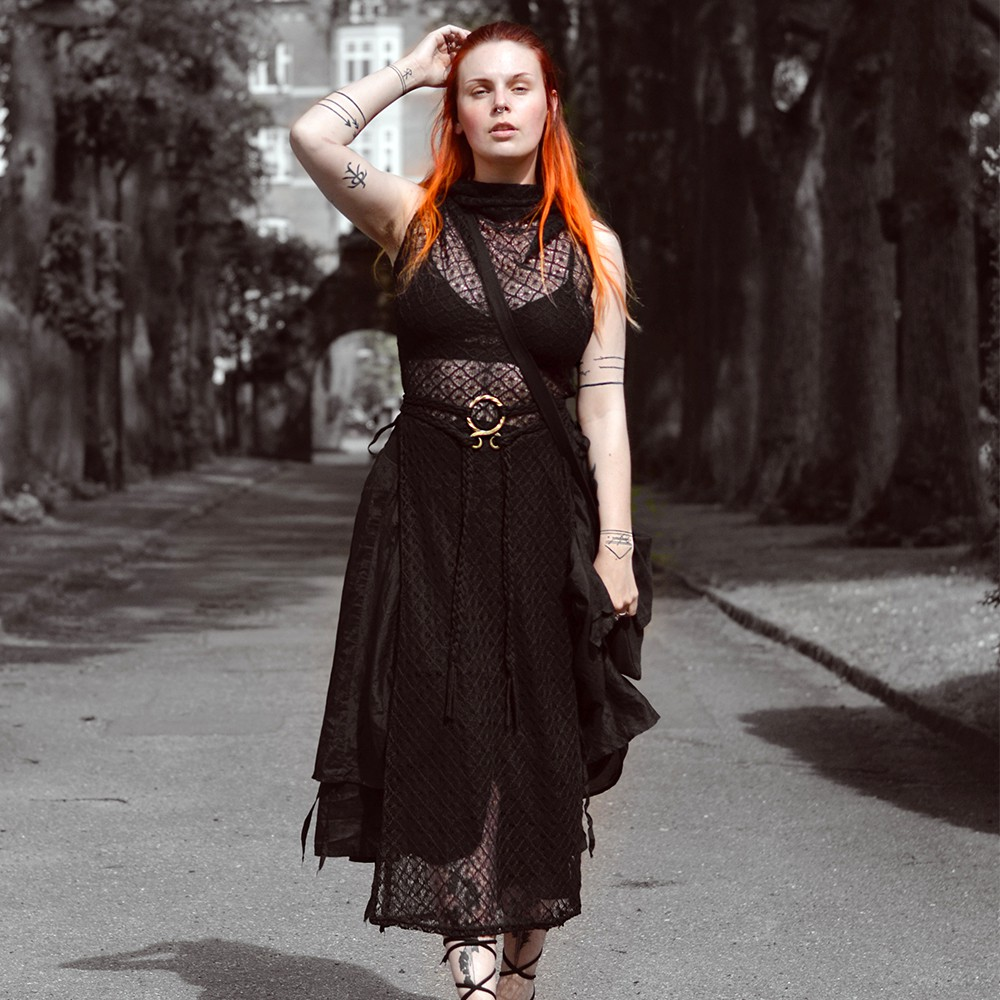 """Nephilim\"" crochet dress, Black"