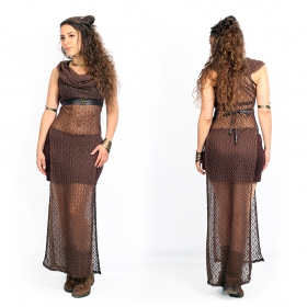 """Nephilim\"" crochet dress, Brown"