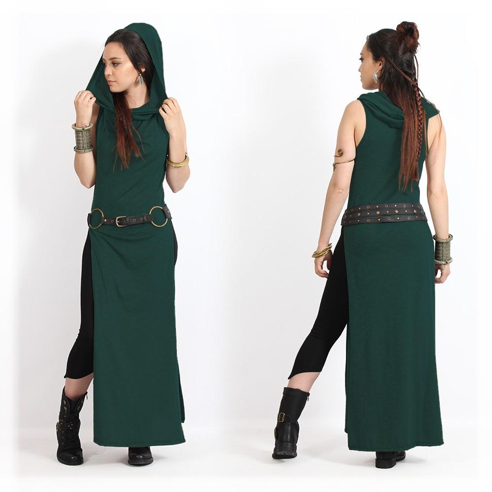 "\""Nephilim\"" dress, Mottled darkteal"