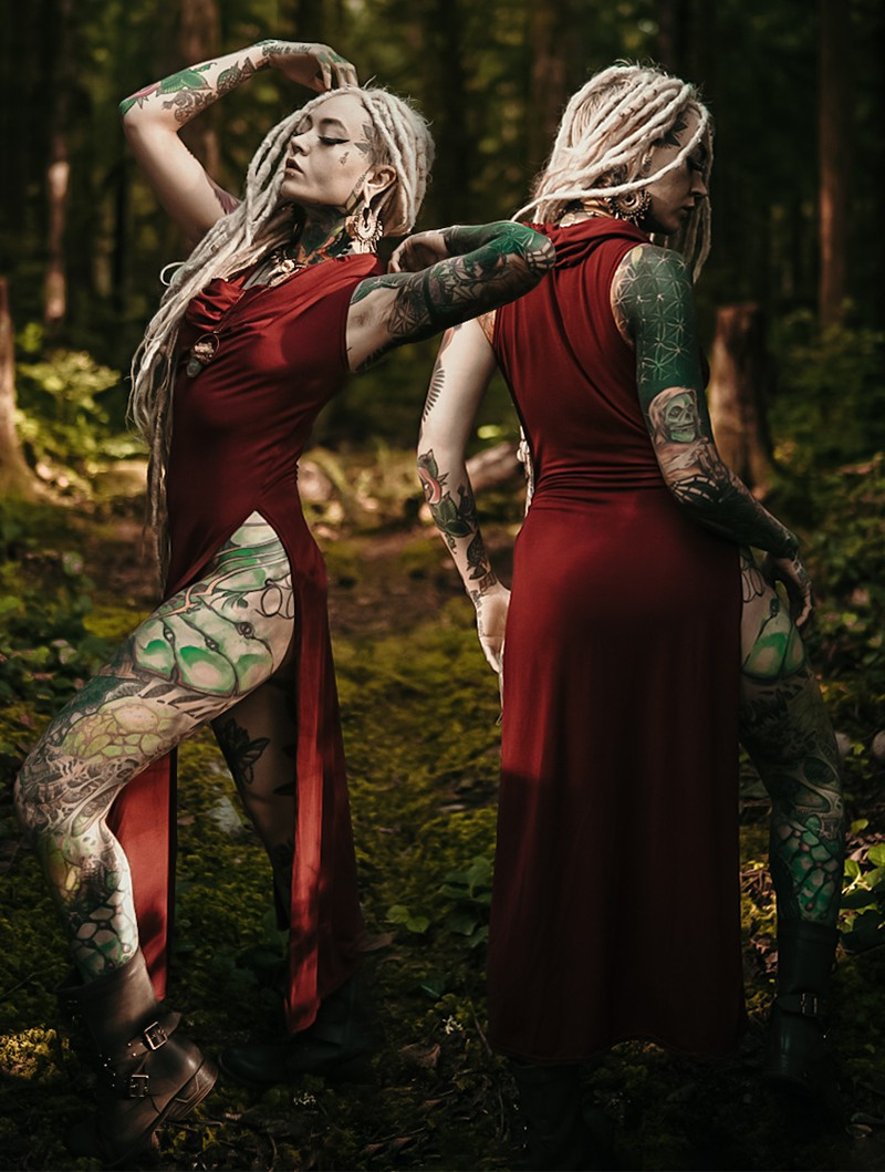 "\""Nephilim\"" dress, Plain wine"