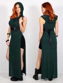 "\""Nephilim\"" long slit dress, Peacock teal"