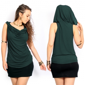 """Nephilim\"" top, Plain dark teal"