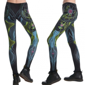 """Neuron\"" UV leggings, Black"