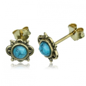 """Nguna Turquoise\"" stud earrings"